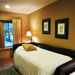 The Huntley Basement Bedroom has a Single Daybed - The Cove at Fairview Vacation Rentals- Asheville NC