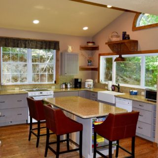The Huntley Cabin Kitchen - The Cove at Fairview Vacation Rentals - Asheville NC