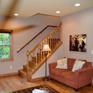 The Huntley Cabin Living Room - The Cove at Fairview Vacation Rentals - Asheville NC