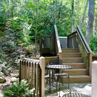 Steps to Hot Tub at The Huntley - The Cove at Fairview Vacation Rentals - Asheville NC