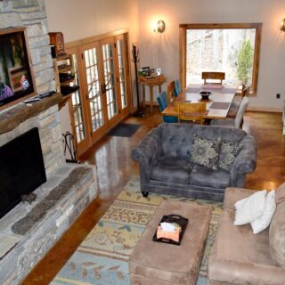My Place living room has an open layout - The Cove at Fairview - Vacation Rentals- Asheville, North Carolina