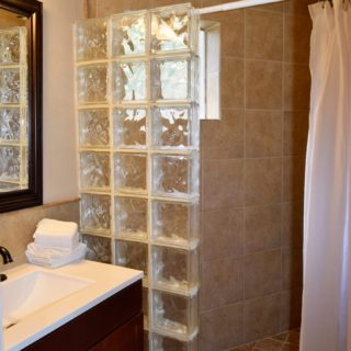 My Roundette bathroom - The Cove at Fairview - Vacation Rentals - Asheville, NC