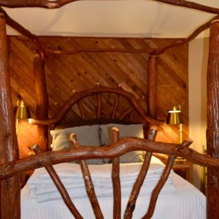 Sassafras bed at My Roundette - The Cove at Fairview - Vacation Rentals - Asheville, NC
