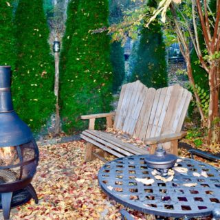 My Roundette chiminea - The Cove at Fairview - Vacation Rentals - Asheville, NC
