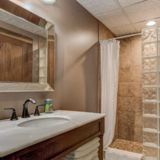 Our House downstairs bathroom - The Cove at Fairview Vacation Rentals - Asheville NC