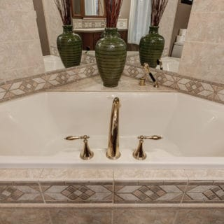 Our House master bath has a garden tub - The Cove at Fairview Vacation Rentals - Asheville NC