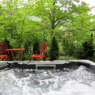 Our House hot tub - The Cove at Fairview Vacation Rentals - Asheville NC