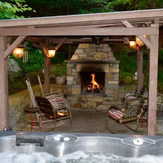 Our House Spa Area - The Cove at Fairview Vacation Rentals - Asheville NC