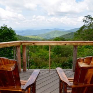 View from wrap around porch - The Cove at Fairview vacation rental - Asheville, North Carolina