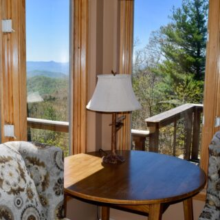 Breakfast nook with view - The Cove at Fairview vacation rental - Asheville, North Carolina