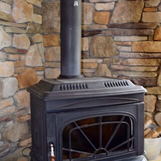 Prayer Ridge has a wood stove - The Cove at Fairview vacation rental - Asheville, North Carolina