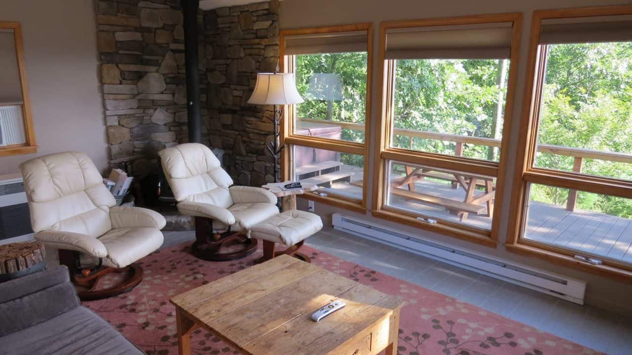 Prayer Ridge living room - The Cove at Fairview vacation rental - Asheville, North Carolina