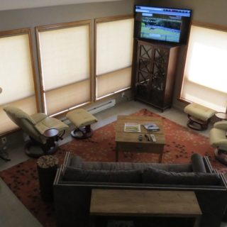 Prayer Ridge living room has a 3D TV- The Cove at Fairview vacation rental - Asheville, North Carolina