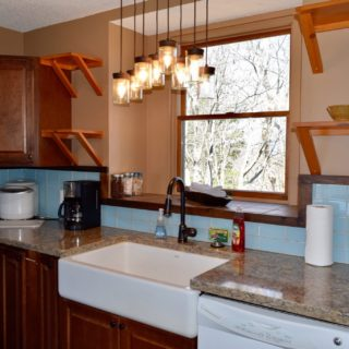Apron sink in kitchen - The Cove at Fairview vacation rental - Asheville, North Carolina