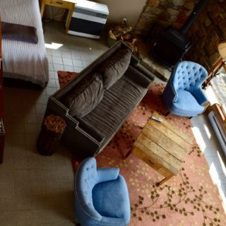 Aerial view of living room - The Cove at Fairview vacation rental - Asheville, North Carolina