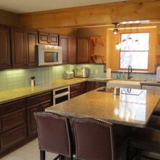 Prayer Ridge has a large kitchen island - The Cove at Fairview vacation rental - Asheville, North Carolina