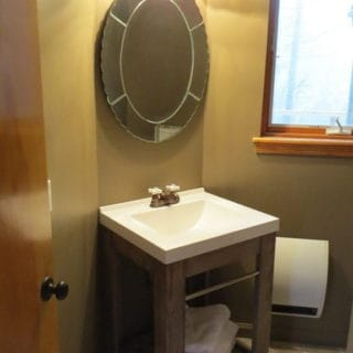 Prayer Ridge second downstairs bathroom - The Cove at Fairview vacation rental - Asheville, North Carolina