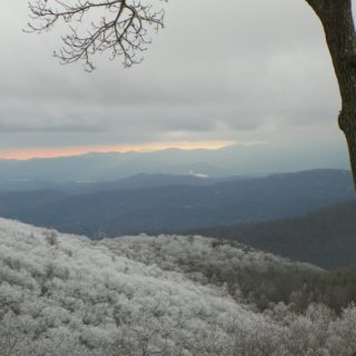 Winter view from Prayer Ridge porch - The Cove at Fairview vacation rental - Asheville, North Carolina