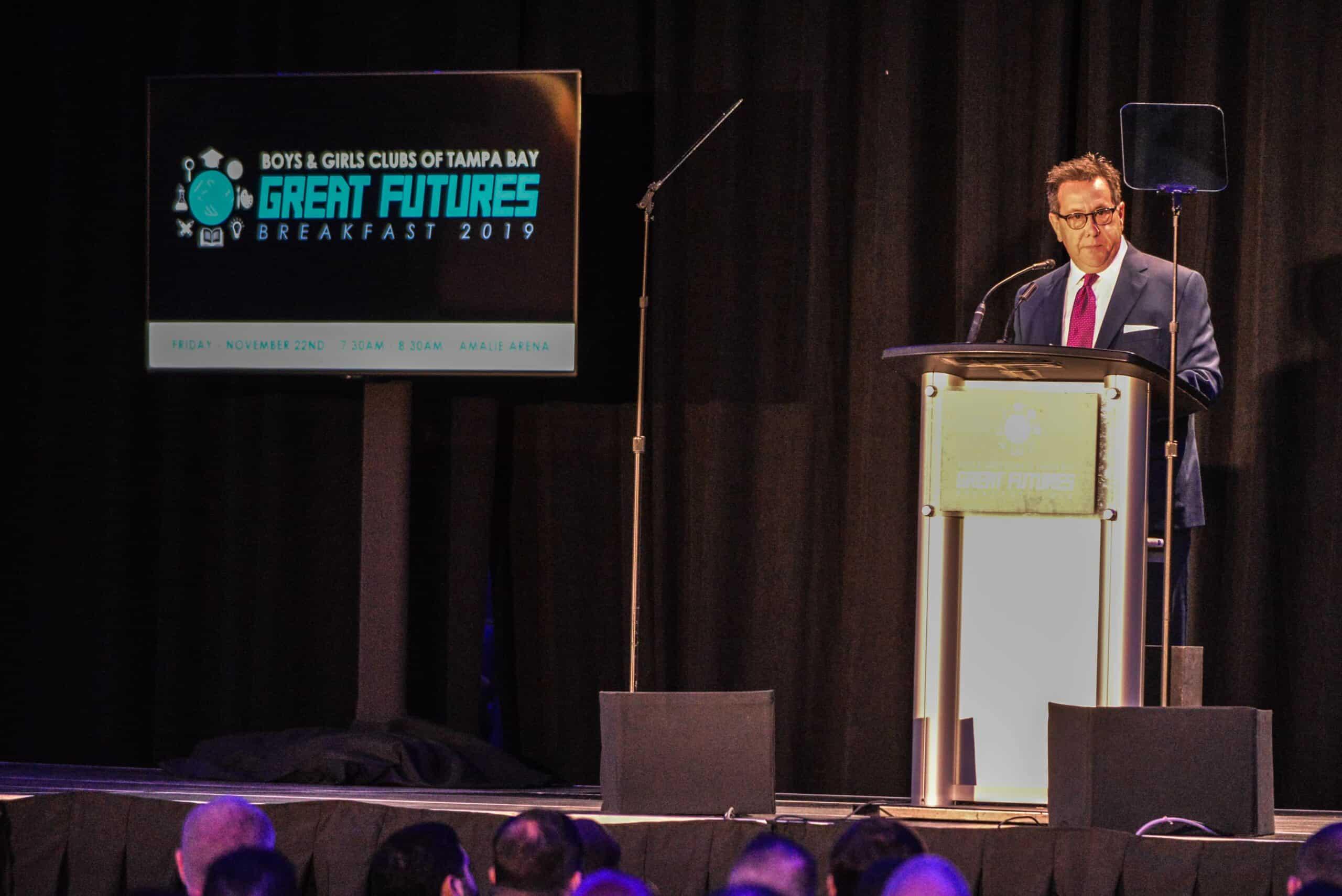 Reggie Garcia at the Great Futures Breakfast