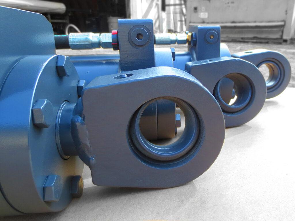 Heavy duty hydraulic cylinders for heavy equipment.