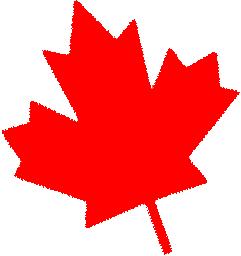 red canadian maple leaf facing left