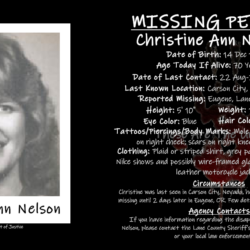 The Mysterious Disappearance Of Christine Ann Nelson