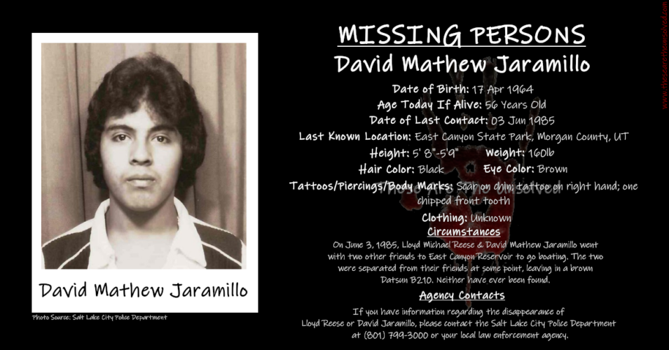 Missing Boys David Jaramillo And Lloyd Reese Have Been Gone 33 Years
