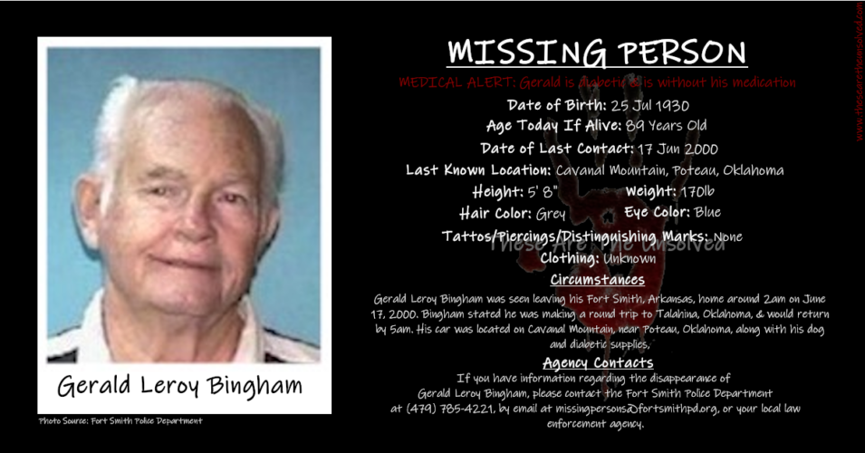 The Unexplained Disappearance Of Gerald Leroy Bingham