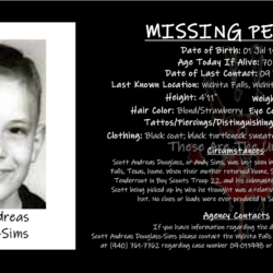 "The Missing Boy Scout: Scott Andreas ""Andy"" Sims"