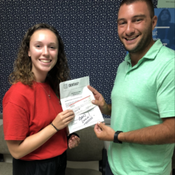 Kaleigh Soucy w/ Joe Trahan, Counselor - Burlington, Connecticut -    Silver
