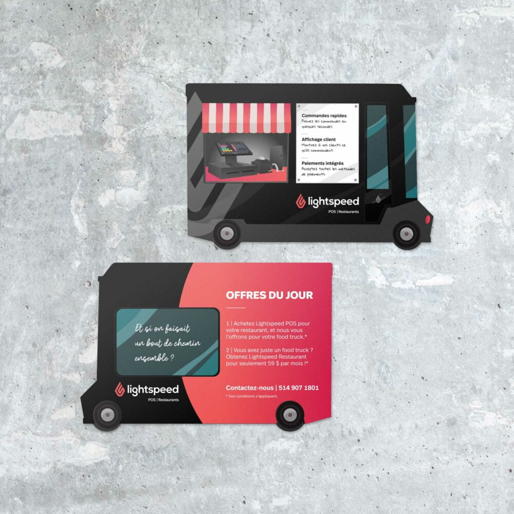 Brochure promotionnelle pour Foodtruck