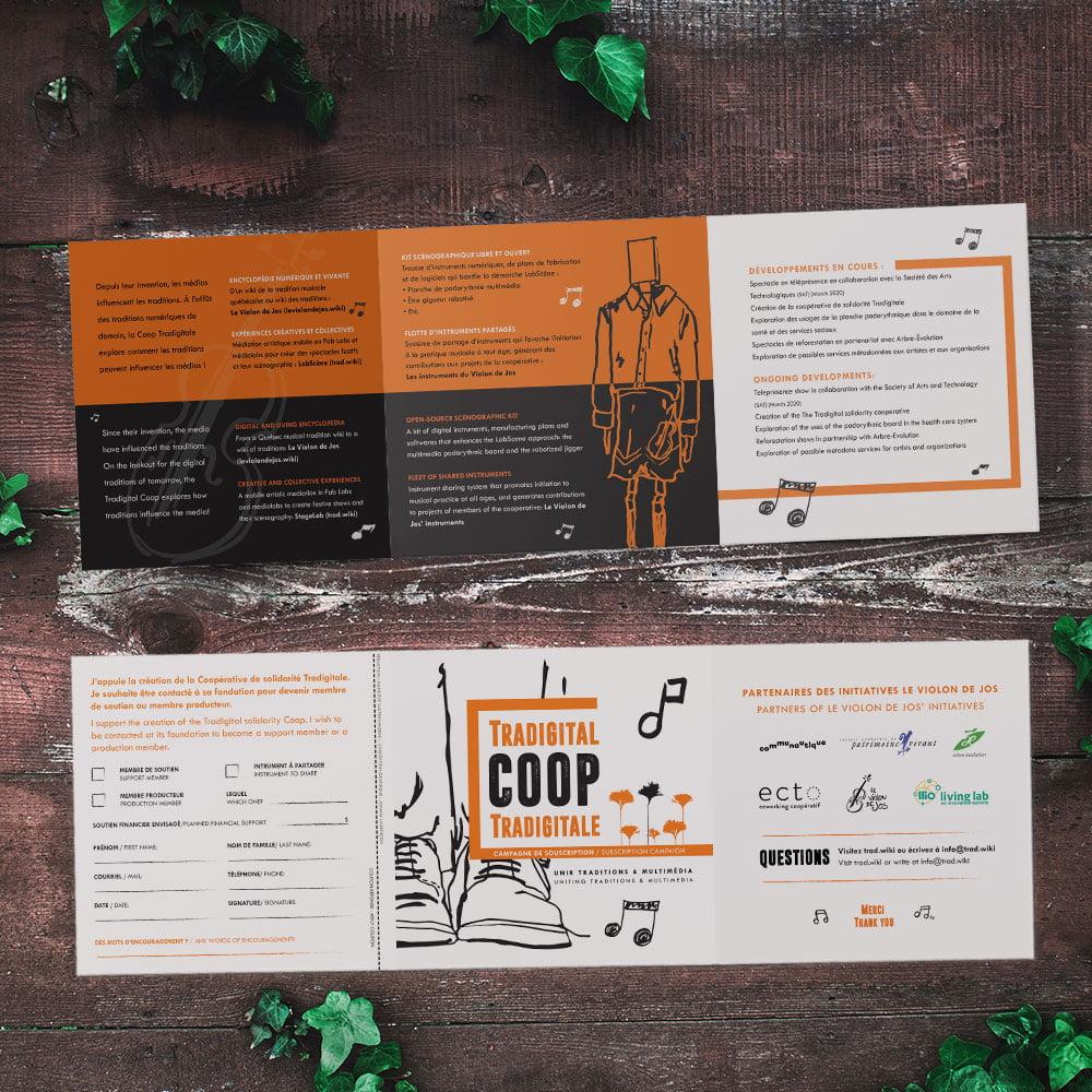 Dépliant en 3 volets brochure