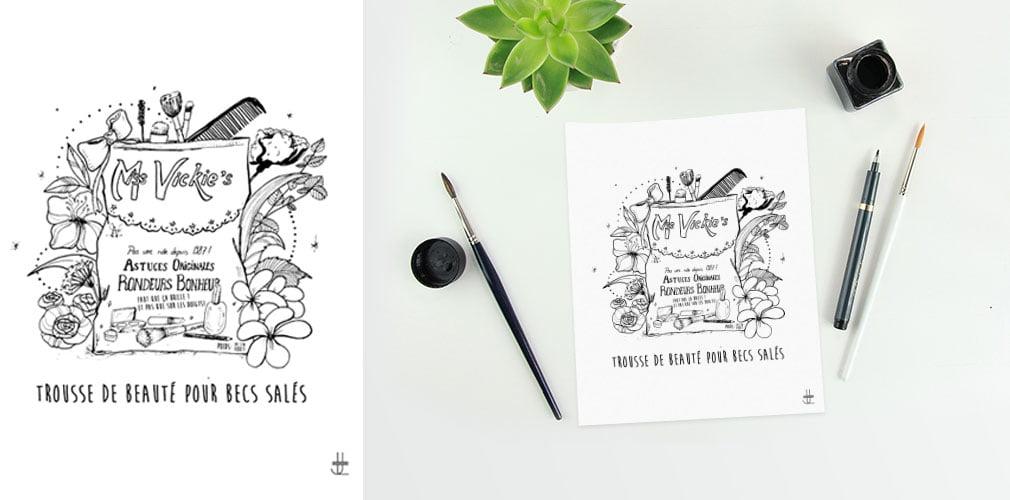 Miss Vickies illustrations