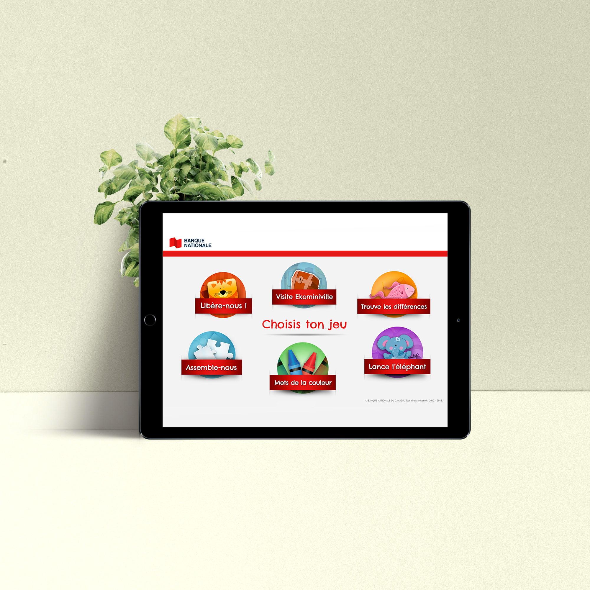 design sur ipad -jeux pour enfants