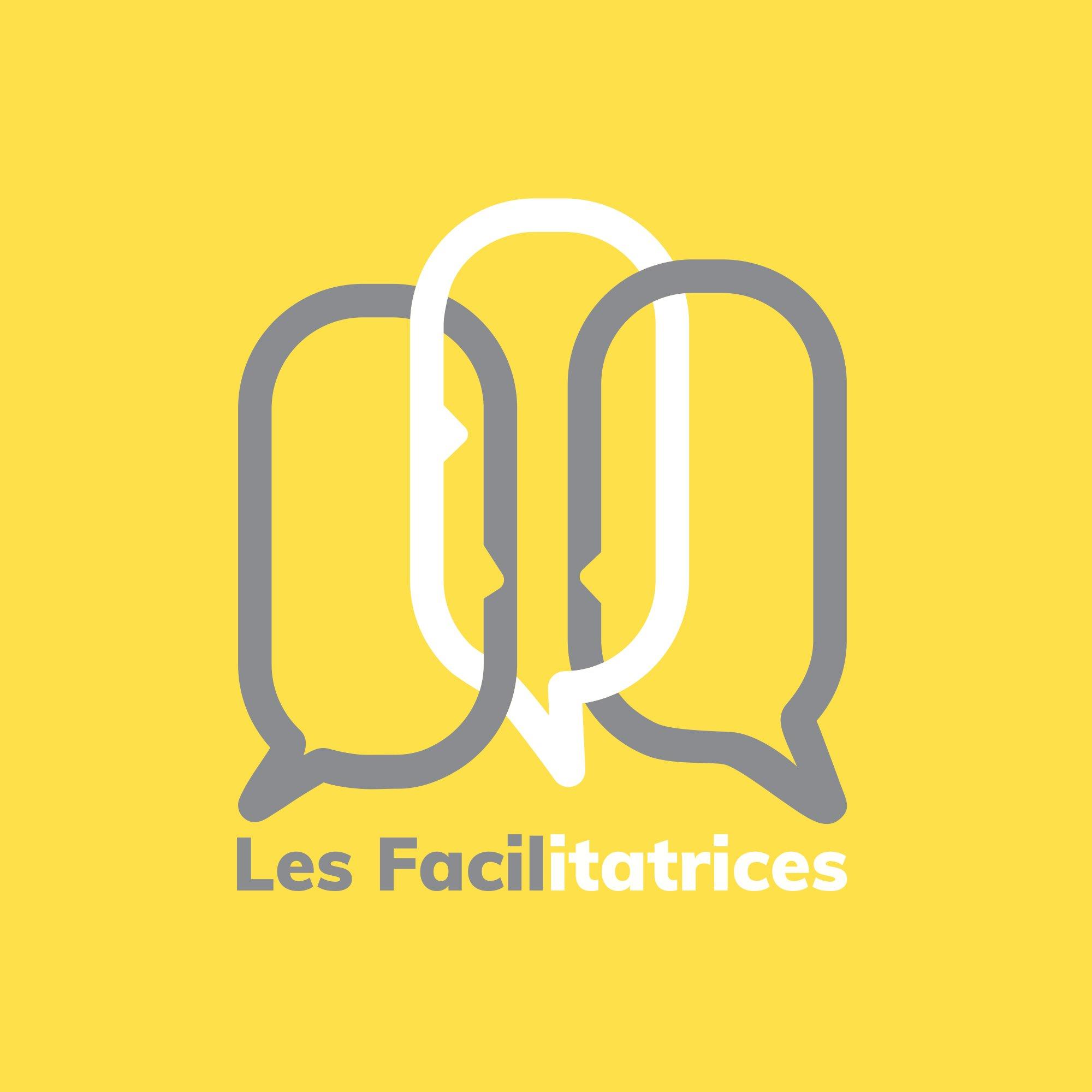 Les Facilitatrices logo sur fond jaune