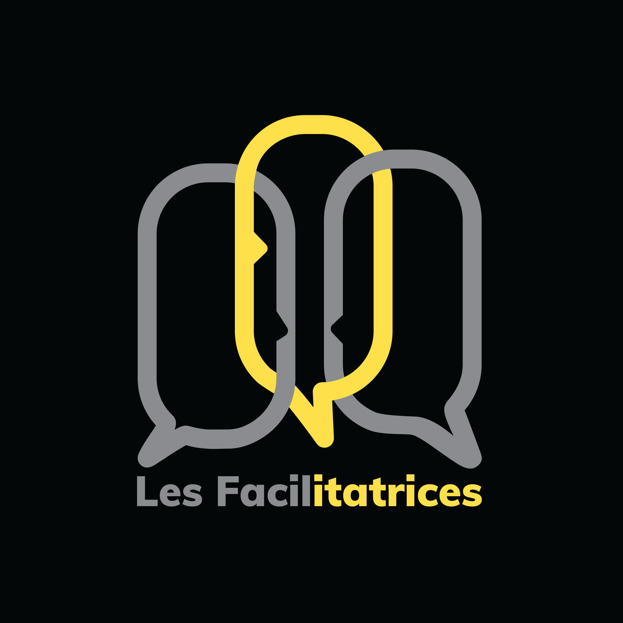 Les Facilitatrices logo sur fond noir