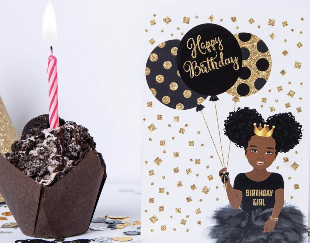 Birthday girl cards for black girls