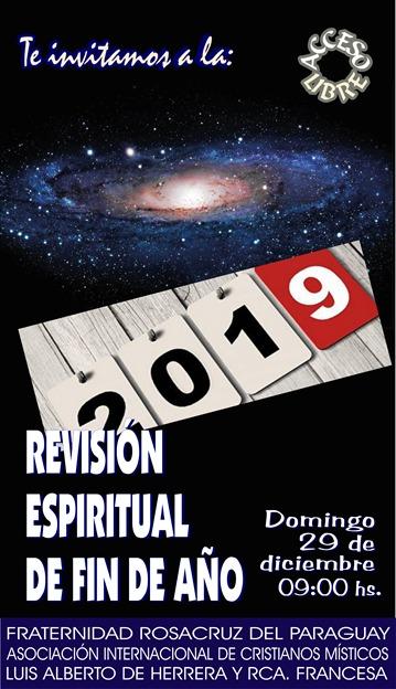Revisión espiritual del año 2019