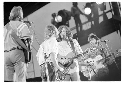 Crosby, Stills, Nash & Young at Tampa Stadium.  Photo by Rick Norcross.