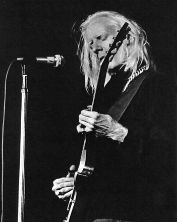 Johnny Winter photograph by Rick Norcross.