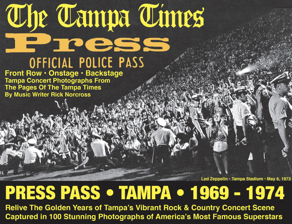Image Press Pass Cover - 100 Vibrant Rock & Country Concert Scene - Captured in 100 Stunning Photographs of America's Most Famous Superstars 1969-1974