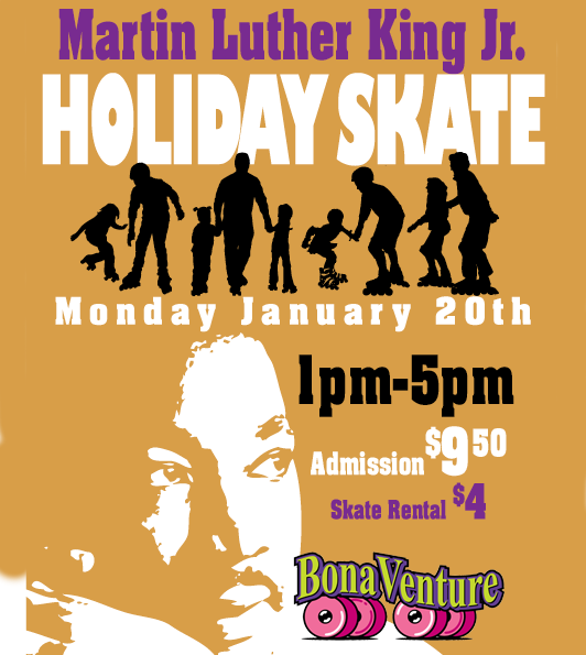 M L King Day School's Out Sk8