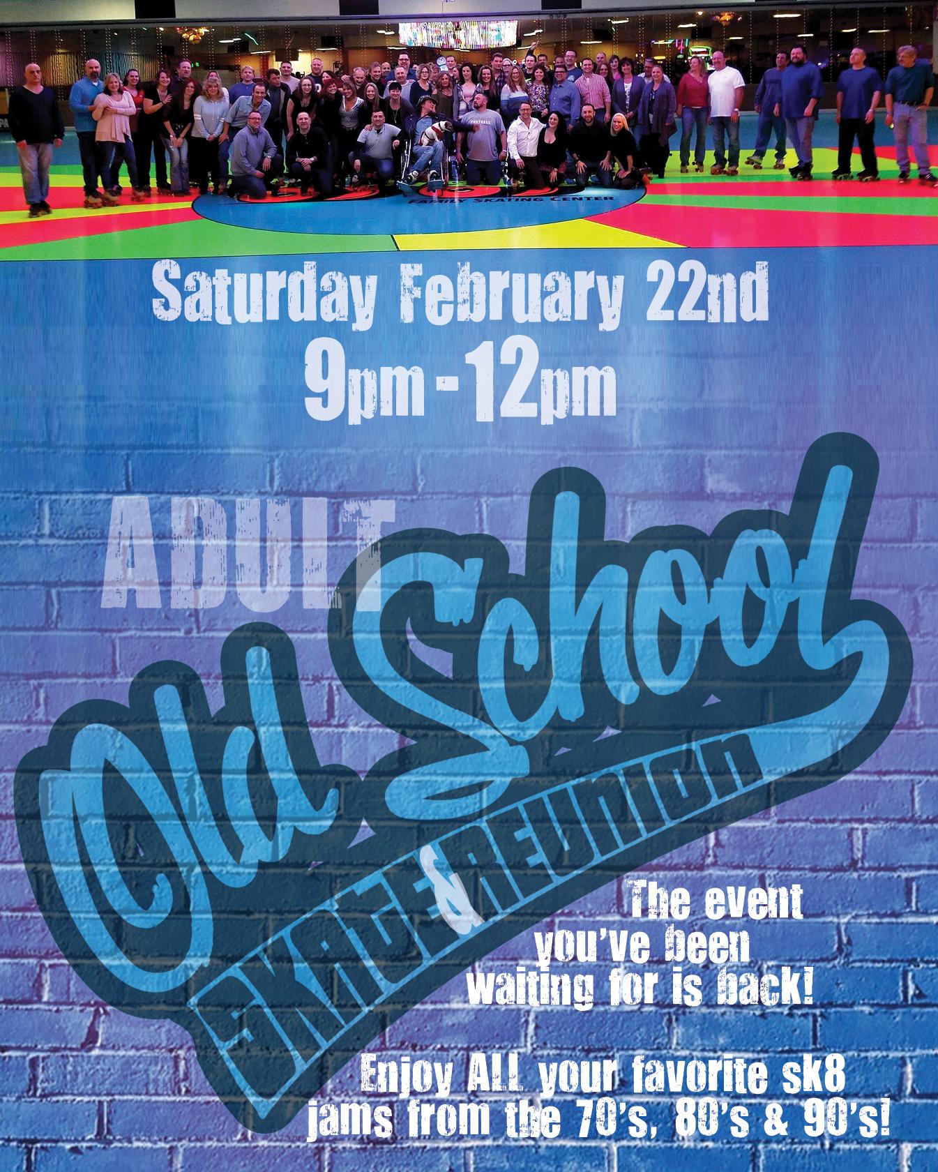 Adult Old School Sk8 Reunion