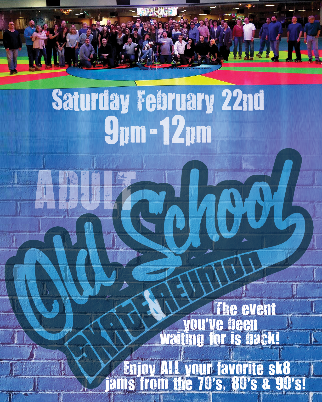 Adult Old School Sk8 Reunion