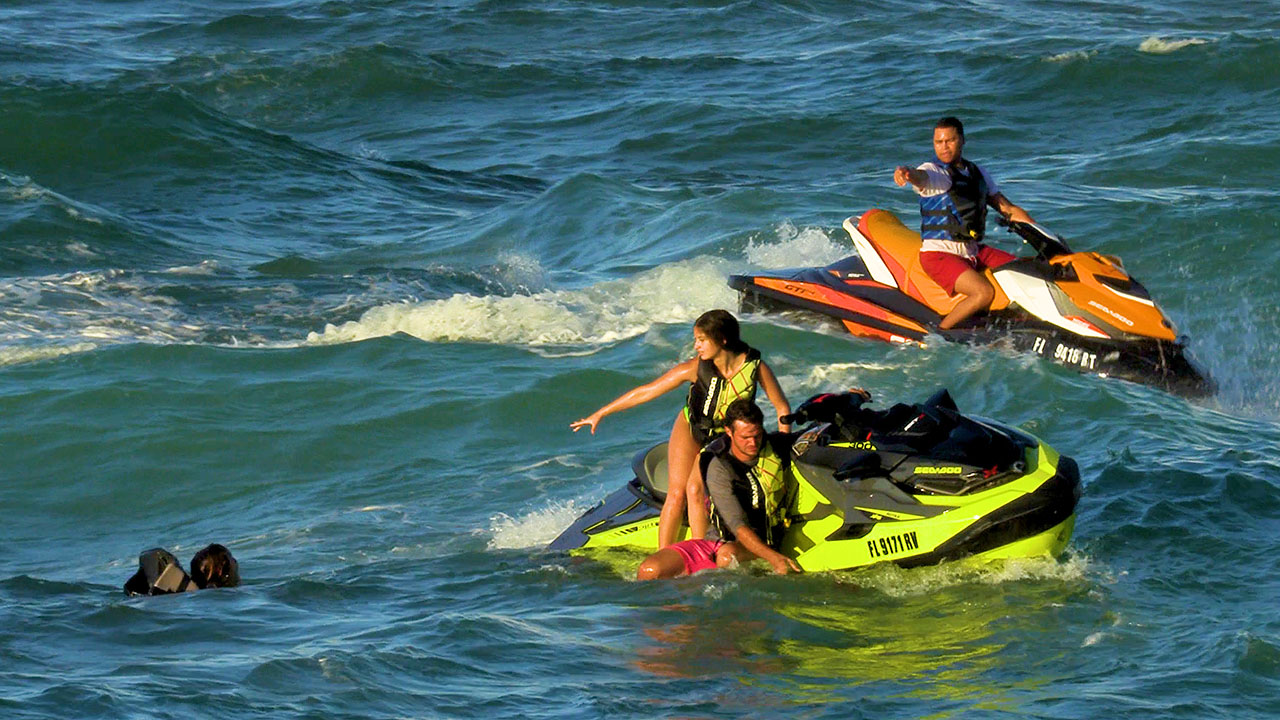 PWC Wipeout at Haulover Inlet