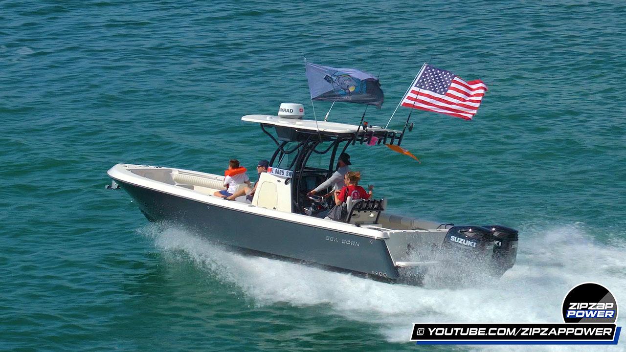 Sea Born Boat at Miami Boat Show