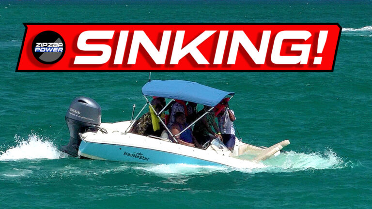 Boat sinking at Haulover Inlet