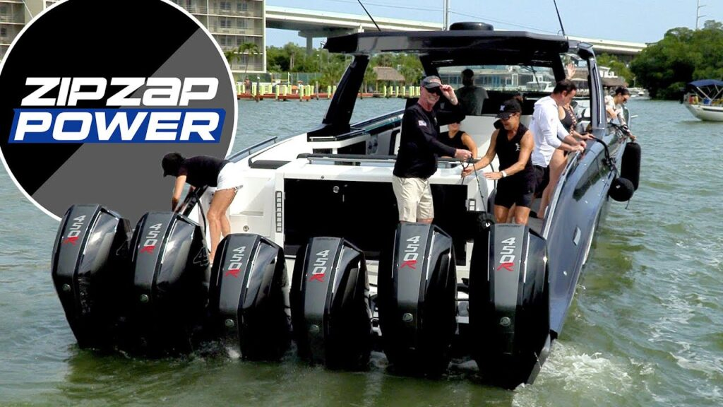 Powerboat Action in Florida Powerboat Club's Key West Poker Run.