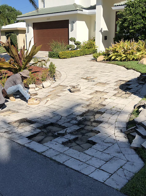 Paver Repair by Pavers Plus Stone