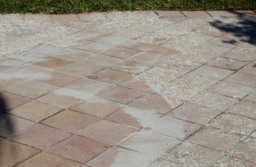 Pressure cleaning by Pavers Plus Stone